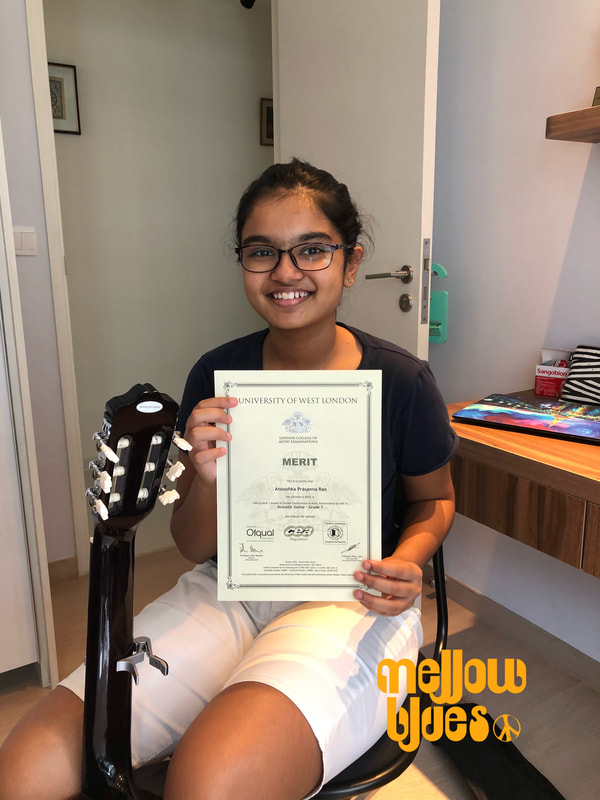 Mellow Blues Acoustic Guitar Lessons in Singapore RGT LCM Grading Exam