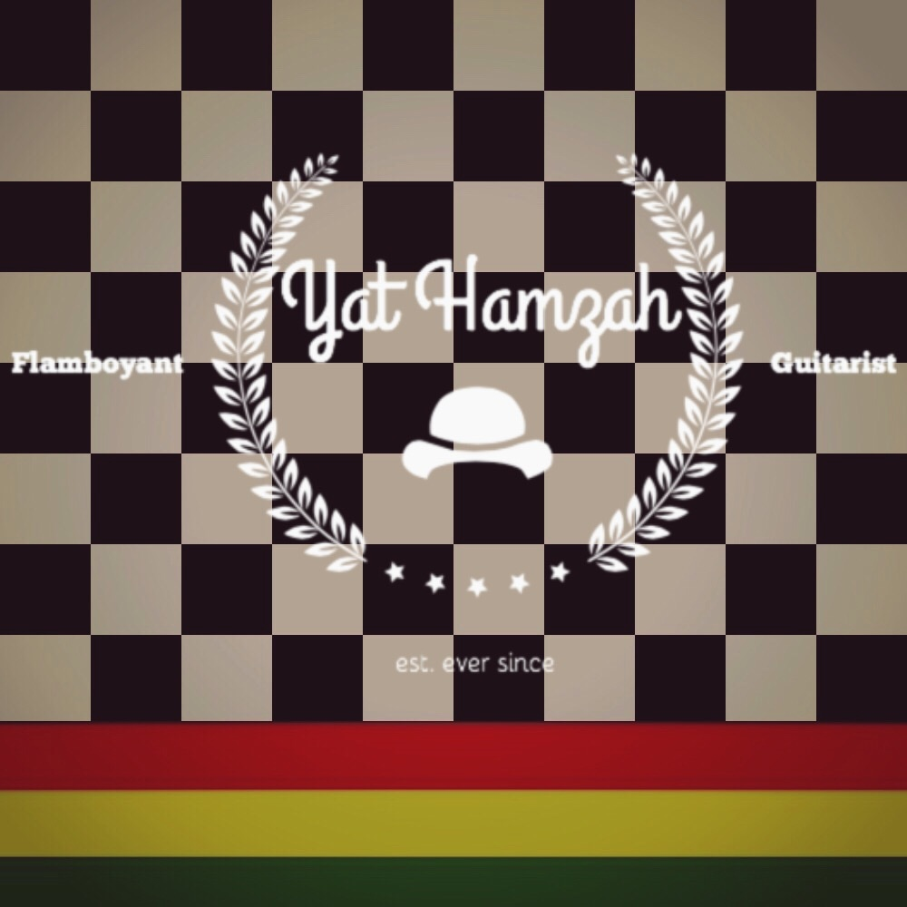 Yat Hamzah Flamboyant Guitarist Ska Jazz Reggae Blues Guitar Music Artist two tone rudeboy colour black and white checkered fred perry ben sherman pretty green rudie rasta colour